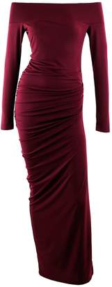 Me&Thee Caught Red Handed Red Wine Maxi Dress