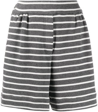 Brunello Cucinelli Striped Jersey Shorts