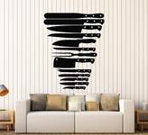 WallStickers4ever Vinyl Wall Decal Knives Butcher Kitchen Cleaver Stickers Murals Large Decor (ig4657)