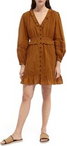 Thumbnail for your product : Scotch & Soda Long Sleeve Button Front Organic Cotton Dress