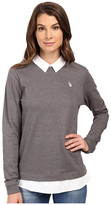 U.S. Polo Assn. French Terry Pullover Twofer Shirt