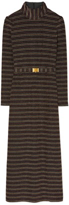Tory Burch Striped Mock-Neck Dress