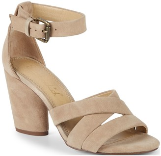 Splendid Nolan Block Heel Suede Sandals