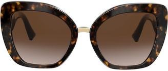 Cat Eye two-tone V logo sunglasses