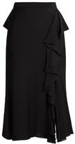 Alexander McQueen Ruffled high-rise midi skirt