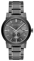 Burberry BU9902 Men's The City Date Bracelet Strap Watch, Gunmetal