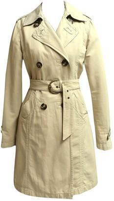 Marella Beige Cotton Coat for Women Vintage