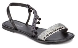 OLIVIA MILLER Neptune Mini Pom Pom Sandals Women's Shoes