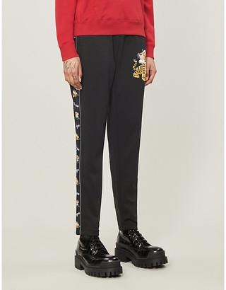 BAPE Tiger-print stretch-jersey jogging bottoms