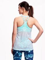 Old Navy Go-Dry Performance Burnout Racerback Tank for Women