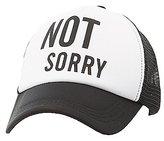 Charlotte Russe Not Sorry Baseball Hat