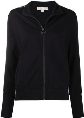 MICHAEL Michael Kors Logo-Tape Zip Front Sweatshirt