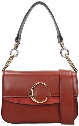 Chloé C Shoulder Bag In Brown Leather