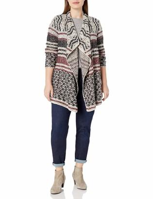 Lucky Brand Women's Plus Size Mixed Stripe Cardigan