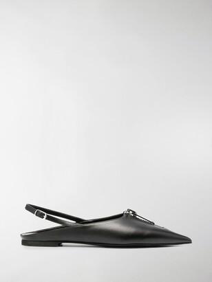 Stella McCartney Zipit slingback ballerina shoes