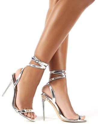 Public Desire Relish Lace Up Perspex Stiletto Heels