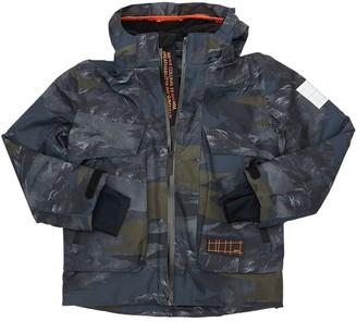Molo Camouflage Print Nylon Ski Jacket