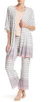 PJ Salvage Floral & Paisley Print Short Sleeve Kimono