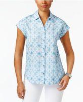 Style&Co. Style & Co Short-Sleeve Denim Shirt, Created for Macy's