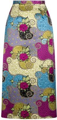 Sika'a Gabisile Floral Print Pencil Skirt