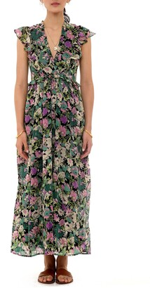 Banjanan Honey Floral Ruffle Maxi Dress