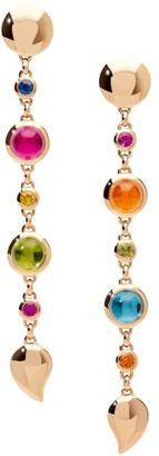Tamara Comolli Bouton 18K Rose Gold & Multi-Stone Mismatched Long Drop Earrings
