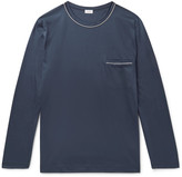 Zimmerli - Contrast-tipped Cotton-jersey Pyjama Shirt