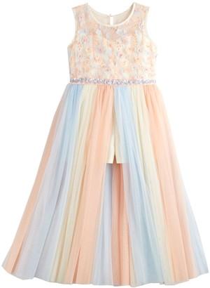 Bonnie Jean Girls 7-16 Rainbow Stripe Midi Dress