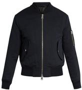 Ami Zip-through Cotton-blend Bomber Jacket