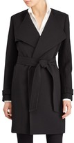 Lauren Ralph Lauren Women's Flap Detail Crepe Wrap Coat