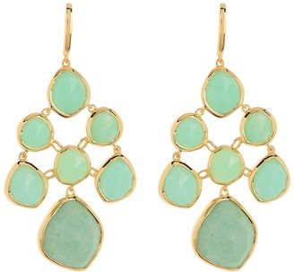 Monica Vinader GP Siren Chrysoprase Chandelier Earrings