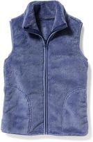 Old Navy Plush Faux-Fur Zip Vest for Girls