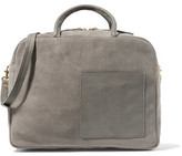 Clare Vivier Leather-Trimmed Suede Tote