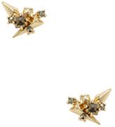 Alexis Bittar Golden Studded Post Stud Earrings