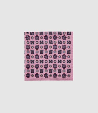 Reiss Kruis - Silk Medallion Pocket Square in Pink