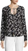 Lucca Couture Women's Natalie Self-Tie Floral Top