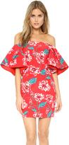 Nicholas Print Floral Tuck Sleeve Dress