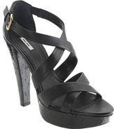 Double Cross Platform Sandal - Black