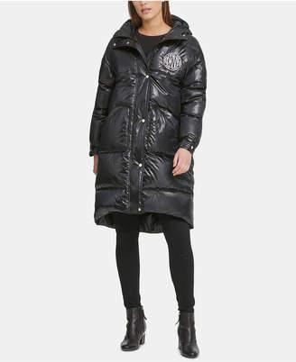 DKNY Oversized Hooded Puffer Coat