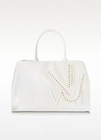 Versace Signature VJ White Eco Leather Satchel