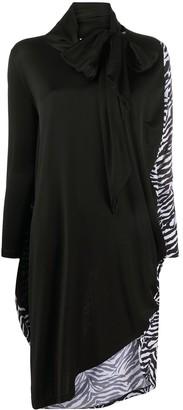 MM6 MAISON MARGIELA Zebra-Print Panelled Dress