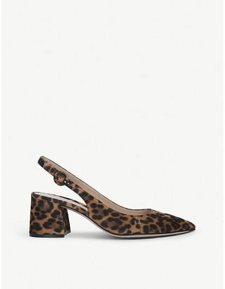 Gianvito Rossi Agata leopard-print suede courts