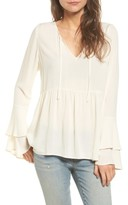 Hinge Women's Bell Sleeve Top