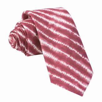 Tie Bar Day Dreamer Stripe Burgundy Tie
