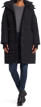 BCBGeneration Detachable Faux Fur Hooded Puffer Coat