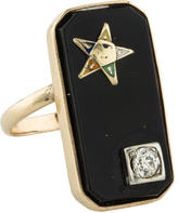 Ring Diamond Star Signet