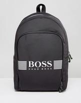 BOSS GREEN by Hugo Boss Nylon Backpack Gray