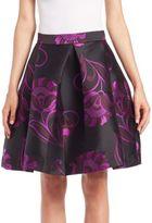 P.A.R.O.S.H. Philomen Pleated Floral-Print Skirt