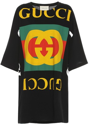 Gucci Oversized printed cotton T-shirt