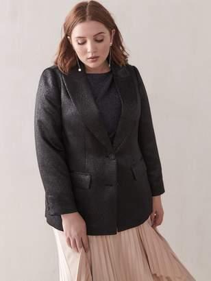 Single-Breasted Jacquard Blazer - Addition Elle